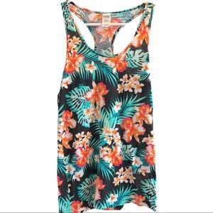 Victoria's Secret Hawaiian Floral Tank Top T040